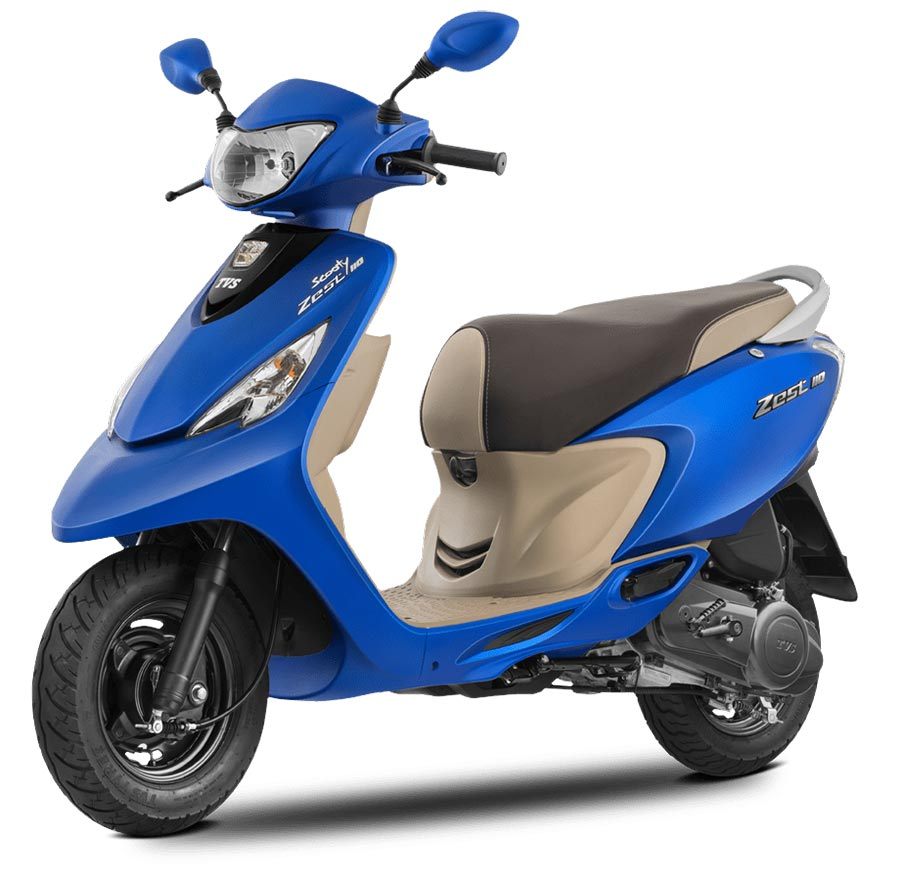 TVS Scooty Zest 110 Matte Blue Color Variant