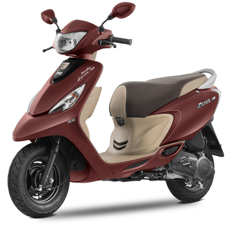 TVS Scooty Zest Red Color ( Matte Red Color)
