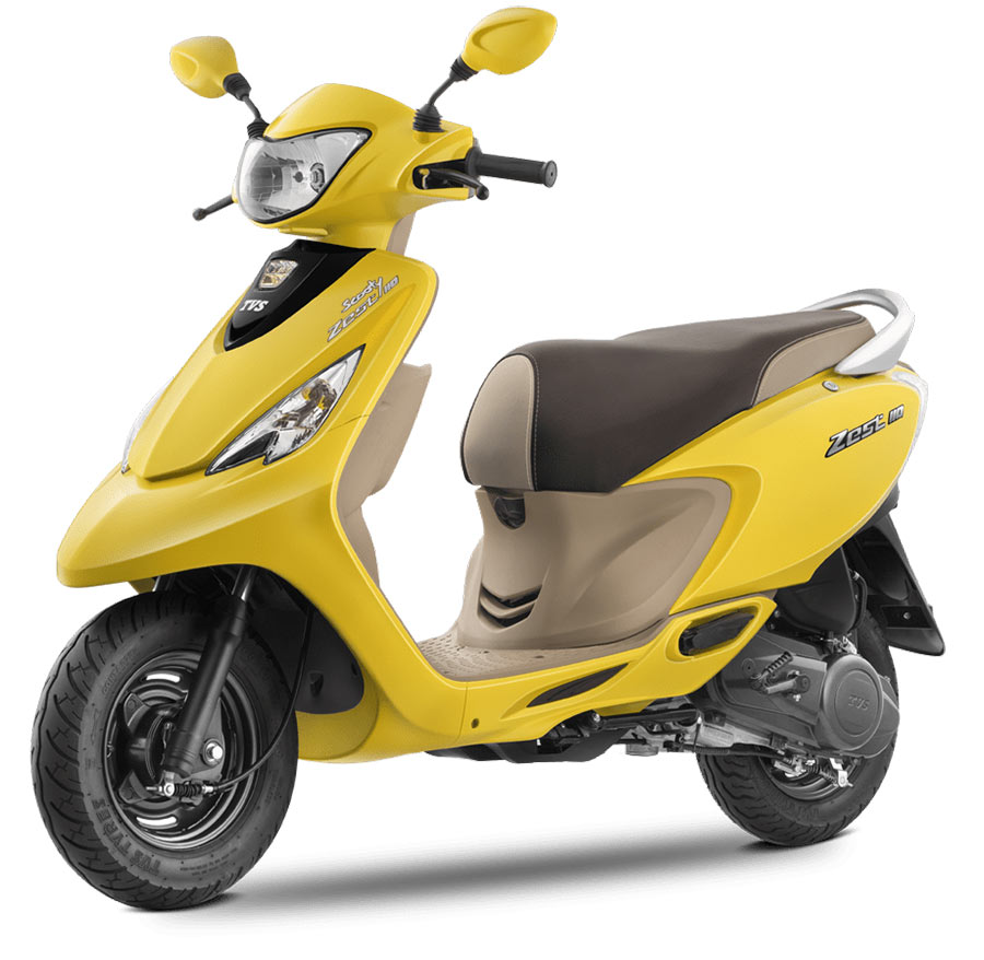 TVS Scooty Zest 110 Matte Yellow Color Variant