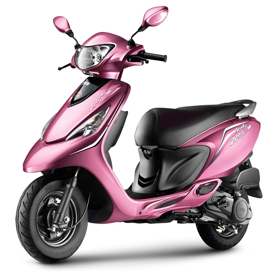 TVS Scooty Zest Pink Color Powerful Pink Color variant