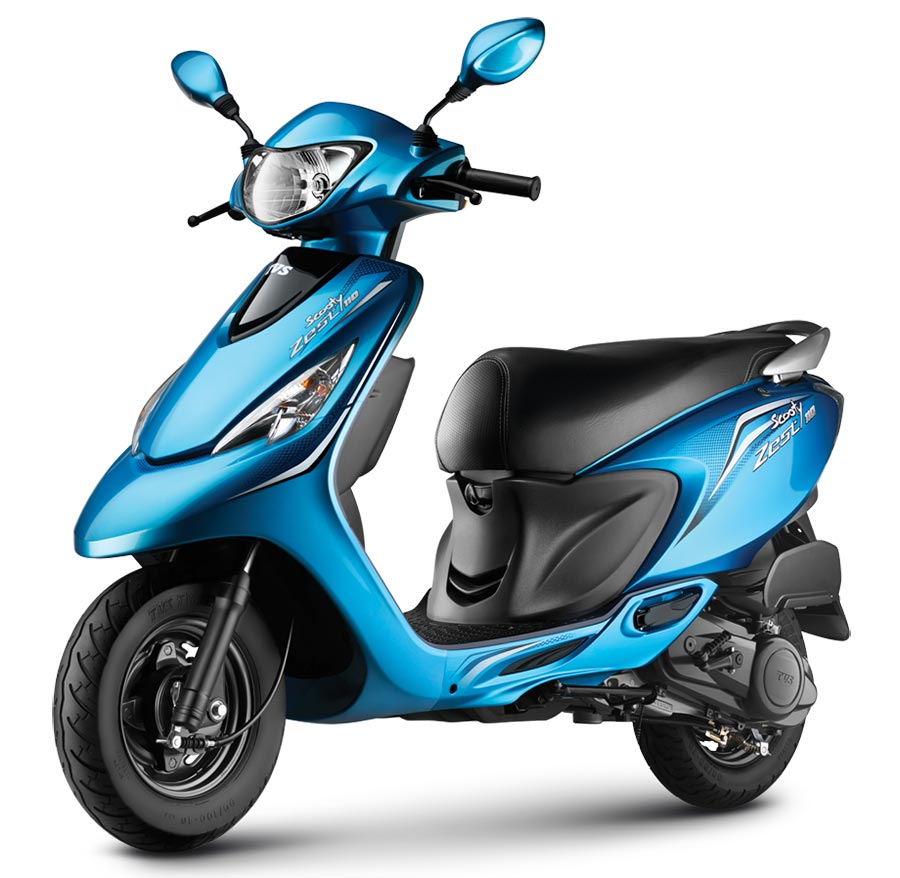 TVS Scooty Zest 110 Turquoise Blue Color variant