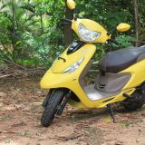 TVS Scooty Zest 110 Review – Matte Yellow Color