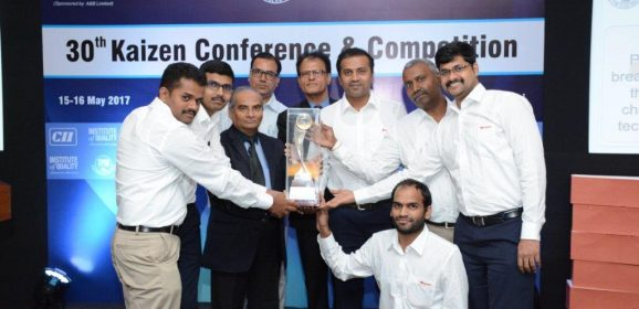 """Toyota won """"Best Kaizen Award"""" at Confederation of Indian Industry (CII)"""