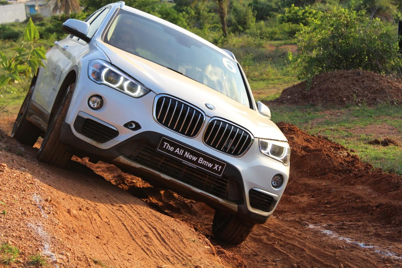 bmw x1 facelift off road experience gaadikey. Black Bedroom Furniture Sets. Home Design Ideas