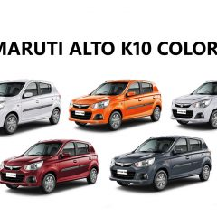 Maruti Alto K10 Colors – Silver, Red, White, Orange, Grey