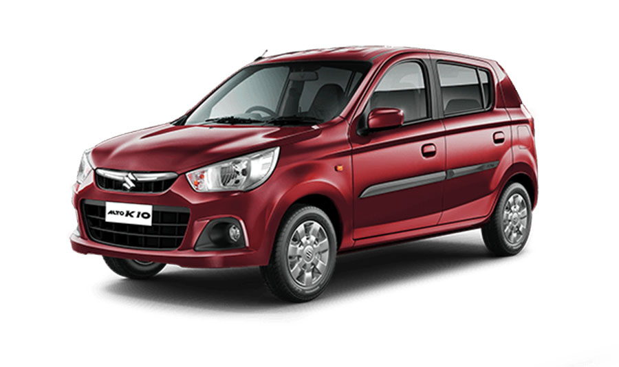 Maruti Alto K10 Fire Brick Red Color