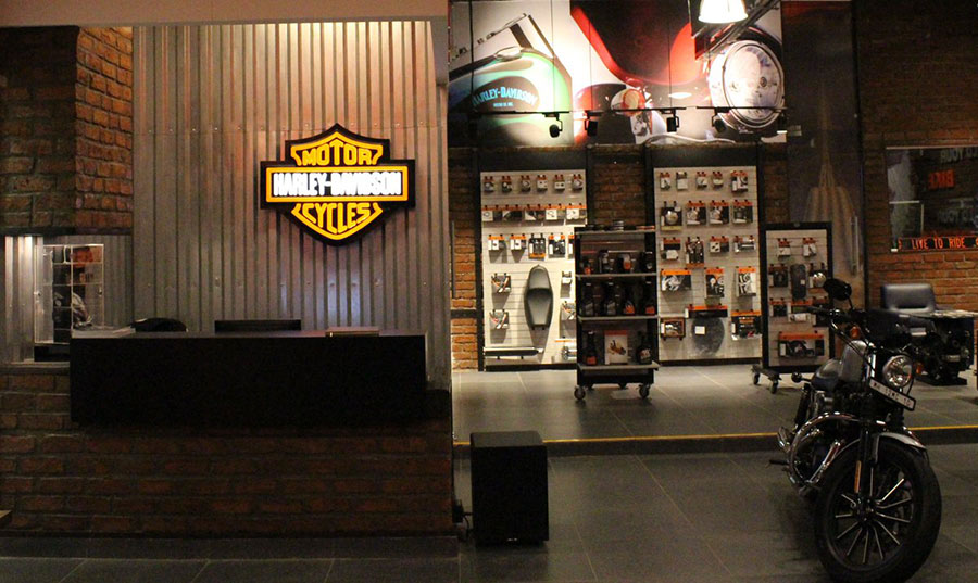 First Harley Davidson Concept Store Opened In India