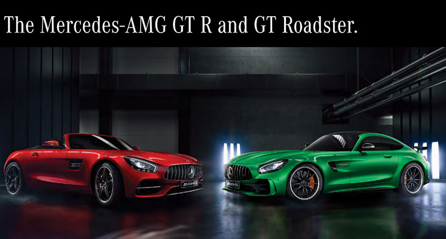 Mercedes AMG GT R and Mercedes AMG GT Roadster