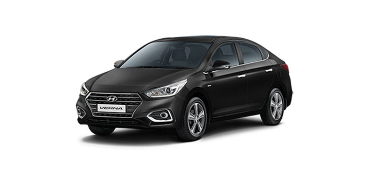 2017 Hyundai Verna Phantom Black Color