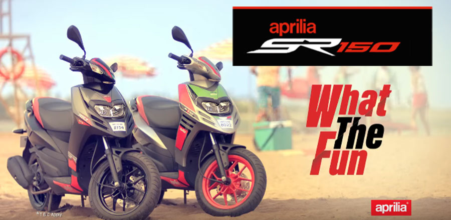 Aprilia SR150 What the Fun Campaign