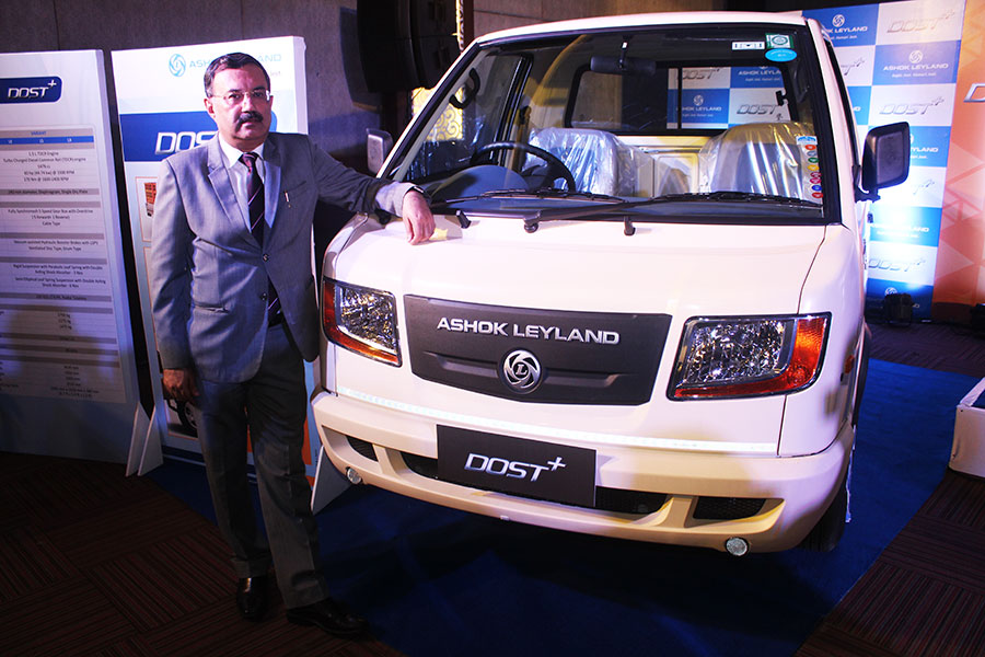 Front View of Ashok Leyland with Nitin Seth
