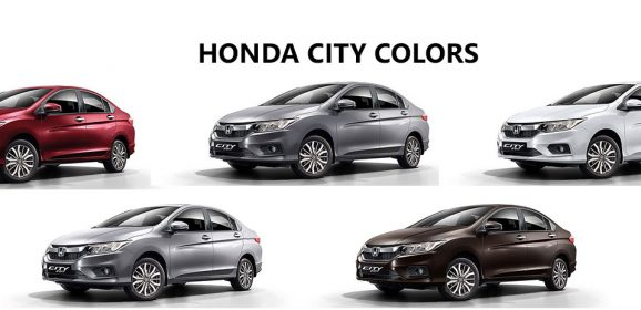 Honda City Colors: White, Steel, Brown, Red, Silver