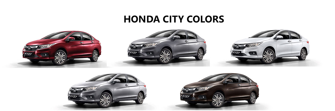 Superb Honda City Colors: White, Steel, Brown, Red, Silver