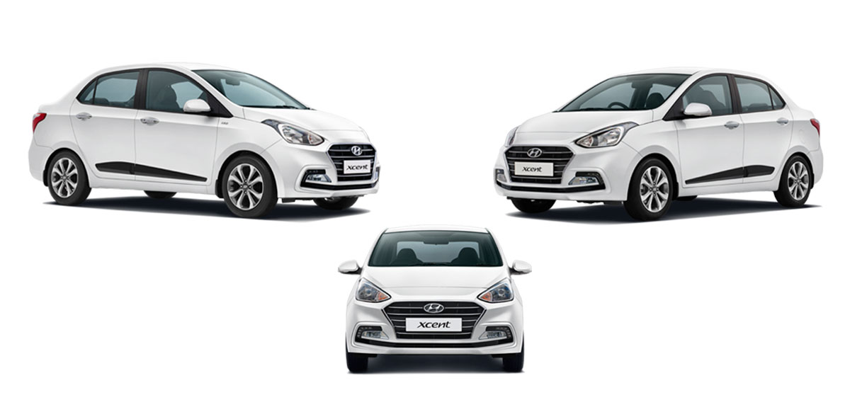 Hyundai Xcent Colors Blue White Silver Stardust Red Gaadikey