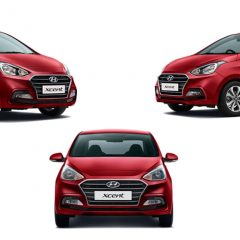 Hyundai Xcent Colors: Blue, White, Silver, Stardust, Red