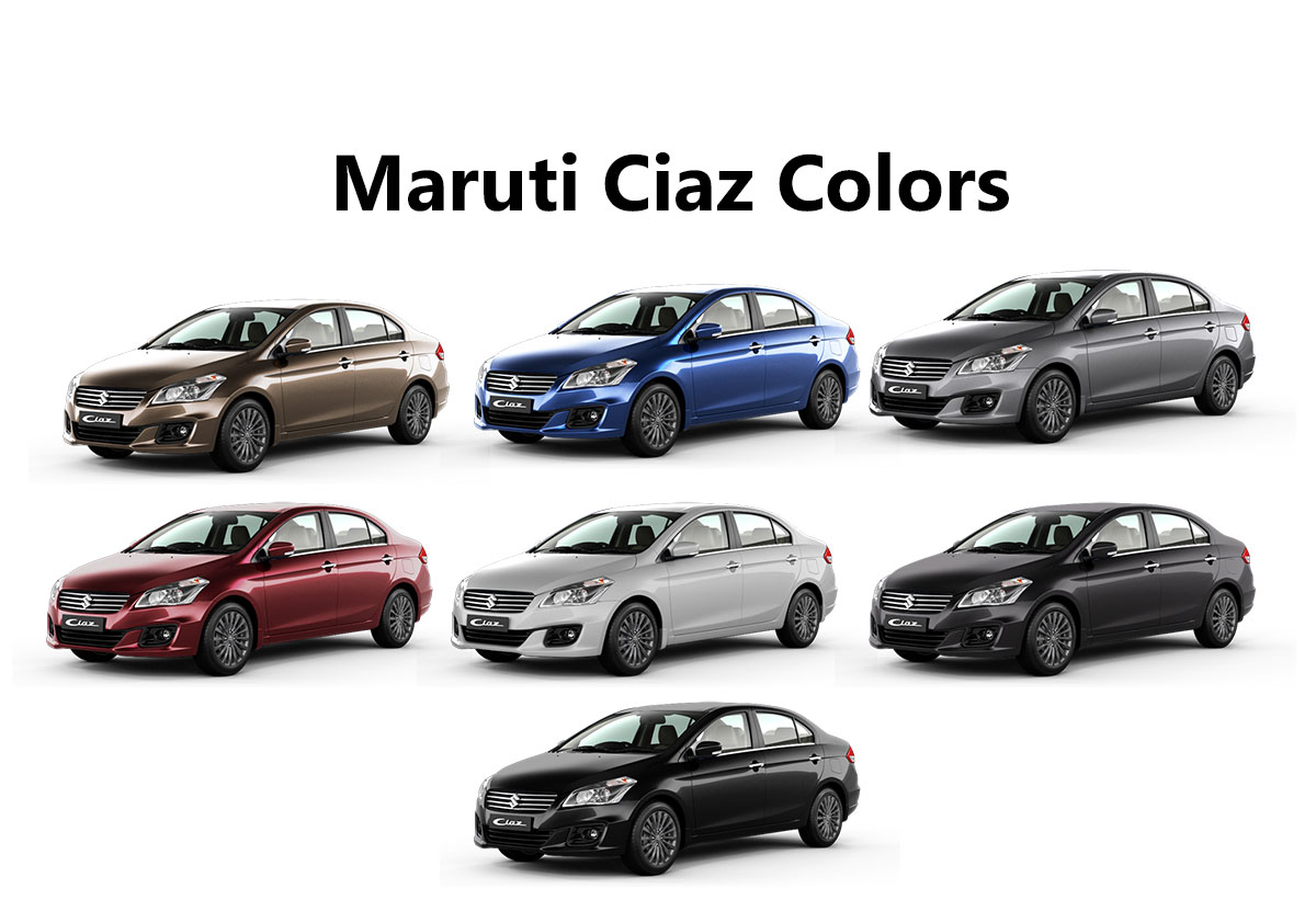 All New Maruti Ciaz Colors