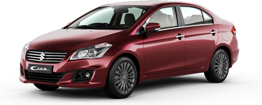 Maruti Ciaz Red Color - Maruti Ciaz Pearl Sangria Red Color Option