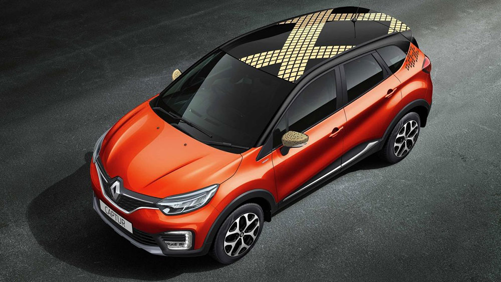 Renault Captur Photos Orange Color Gaadikey