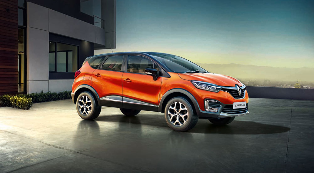 renault captur photos orange color gaadikey. Black Bedroom Furniture Sets. Home Design Ideas