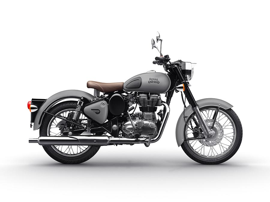 Royal Enfield Classic Gunmetal Grey And Stealth Black Colors Introduced Gaadikey