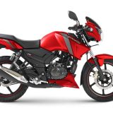 TVS Apache RTR 160, RTR 180 gets Syrah Matte Red Color