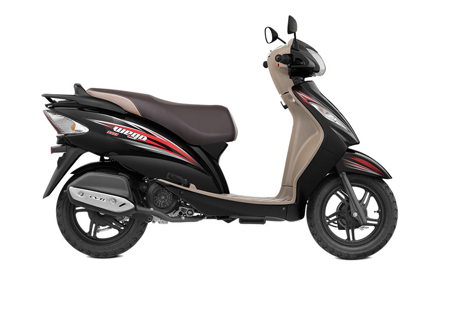 TVS Wego Black Color Midnight Black Color White