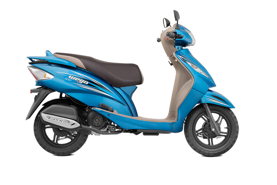 TVS Wego Deep Blue Color Variant