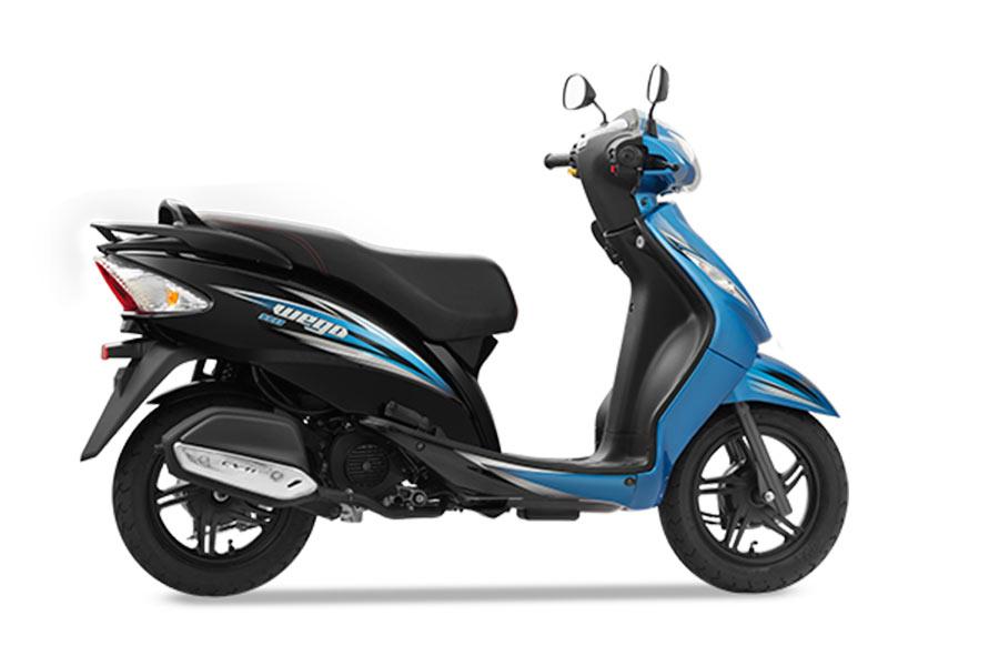TVS Wego Dual Tone Blue Color Variant
