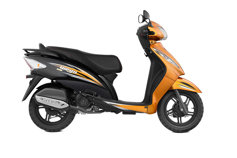 TVS Wego Dual Tone Orange Color Variant