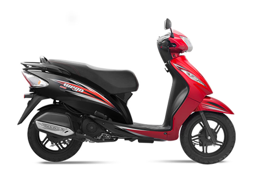 TVS Wego Dual Tone Red Color Variant