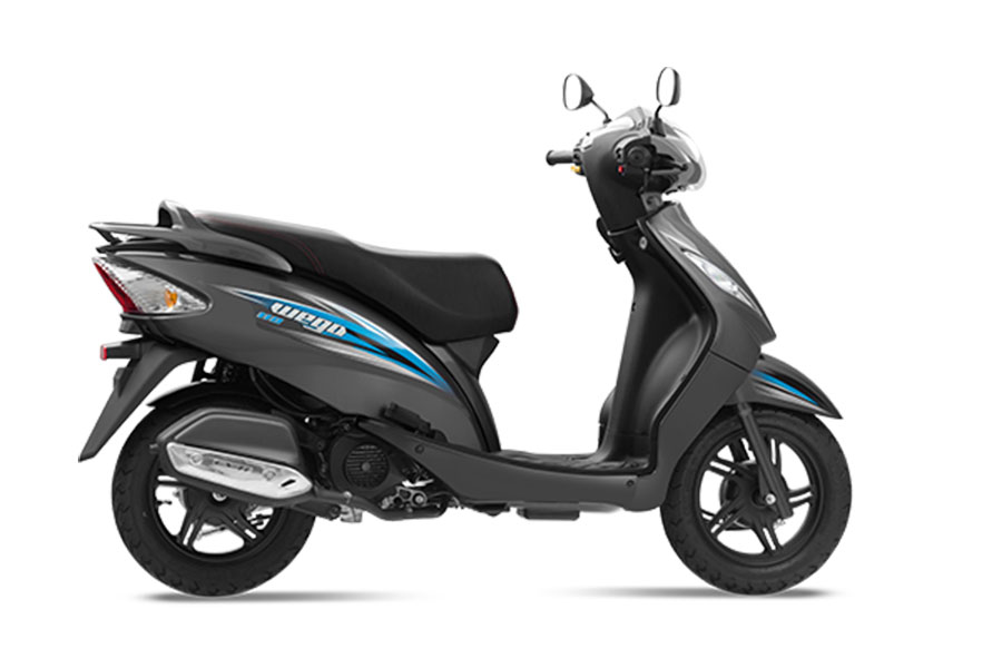 TVS Wego Grey Color - Metallic T Grey Color Variant