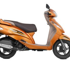TVS Wego Colors: Blue, Red, Black, Grey, White, Orange
