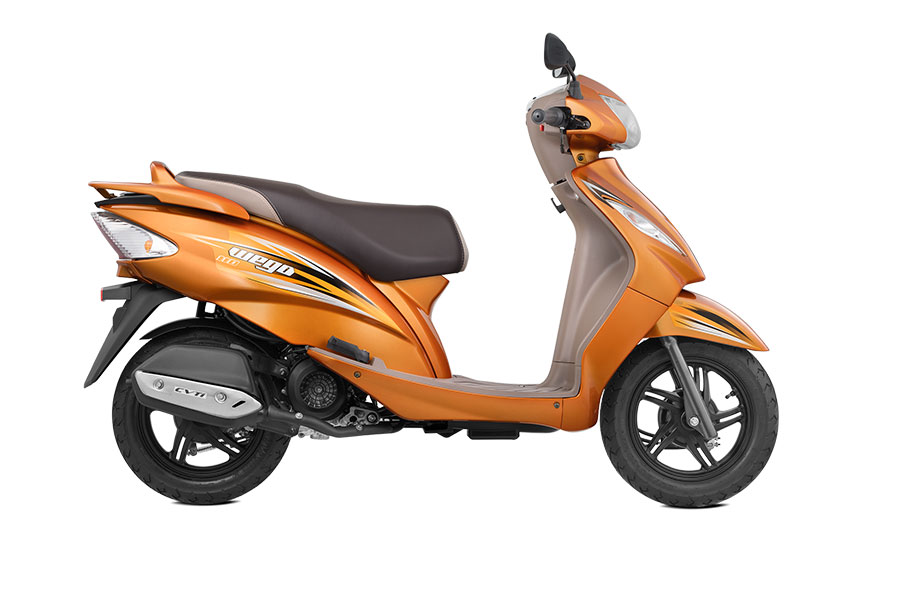 All New TVS Wego Orange Color Wego Metallic Orange Color Variant