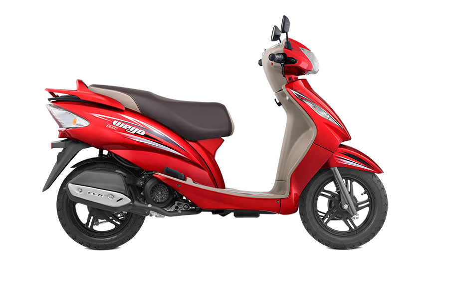 TVS Wego Volcano Red Color Variant
