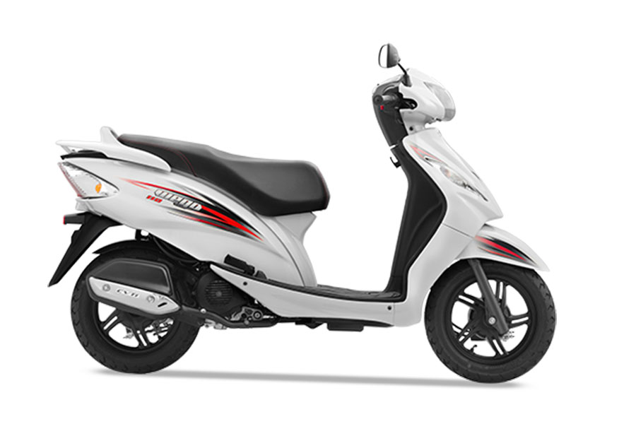 TVS Wego White Color Sporty White Color Variant