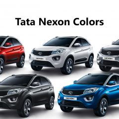 Tata Nexon Colors: Blue, Grey, Silver, Red, White
