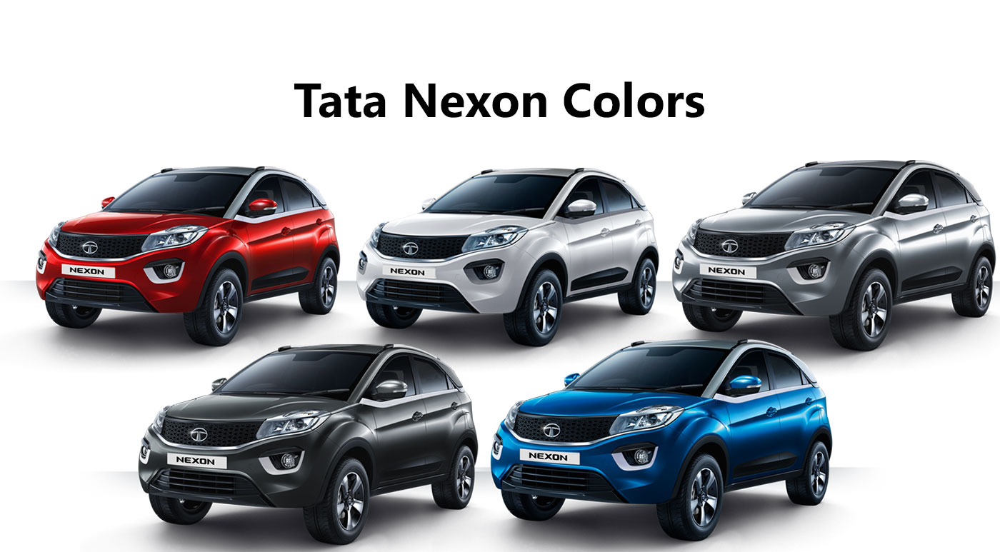 All Tata Nexon Color Variants