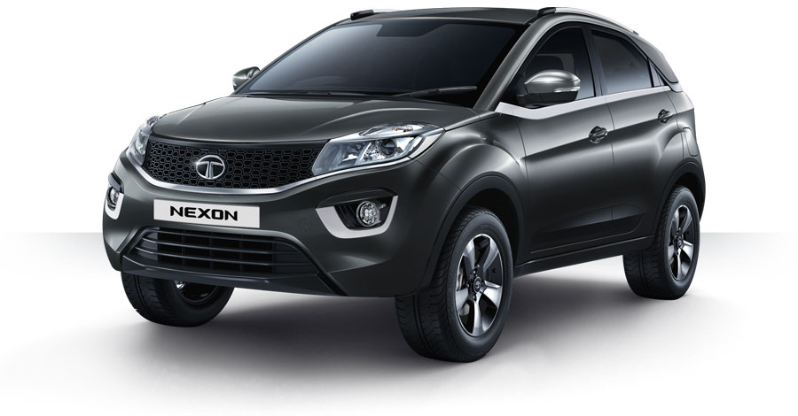Tata Nexon Grey Color Black, Tata Nexon Glasgow Grey Color Variant