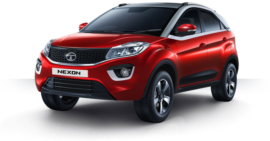 Tata Nexon Vermont Red Color, Tata Nexon Red Vermont Red color option