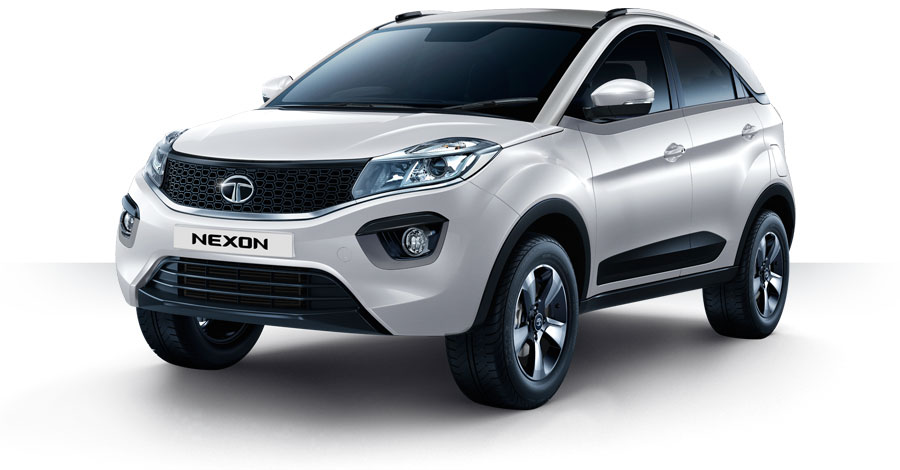 Tata Nexon White Color Calgary White Color, Nexon Calgary White Color Variant