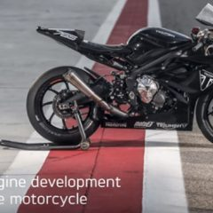 Triumph Moto2 Engine Development Prototype in Testing