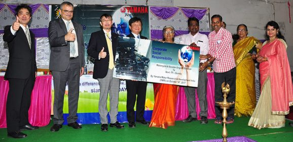 Yamaha donates cut section engine models to ITI Colleges in Chennai