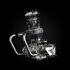 Royal Enfield unveils its First modern 650 Twin Engine