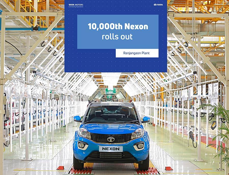 10000 Tata Nexon Cars