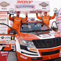 Mahindra Adventure wins Indian National Rally Championship 2017