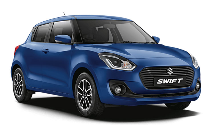 New Swift 2018 Blue Color - Maruti Swift Midnight Blue Color