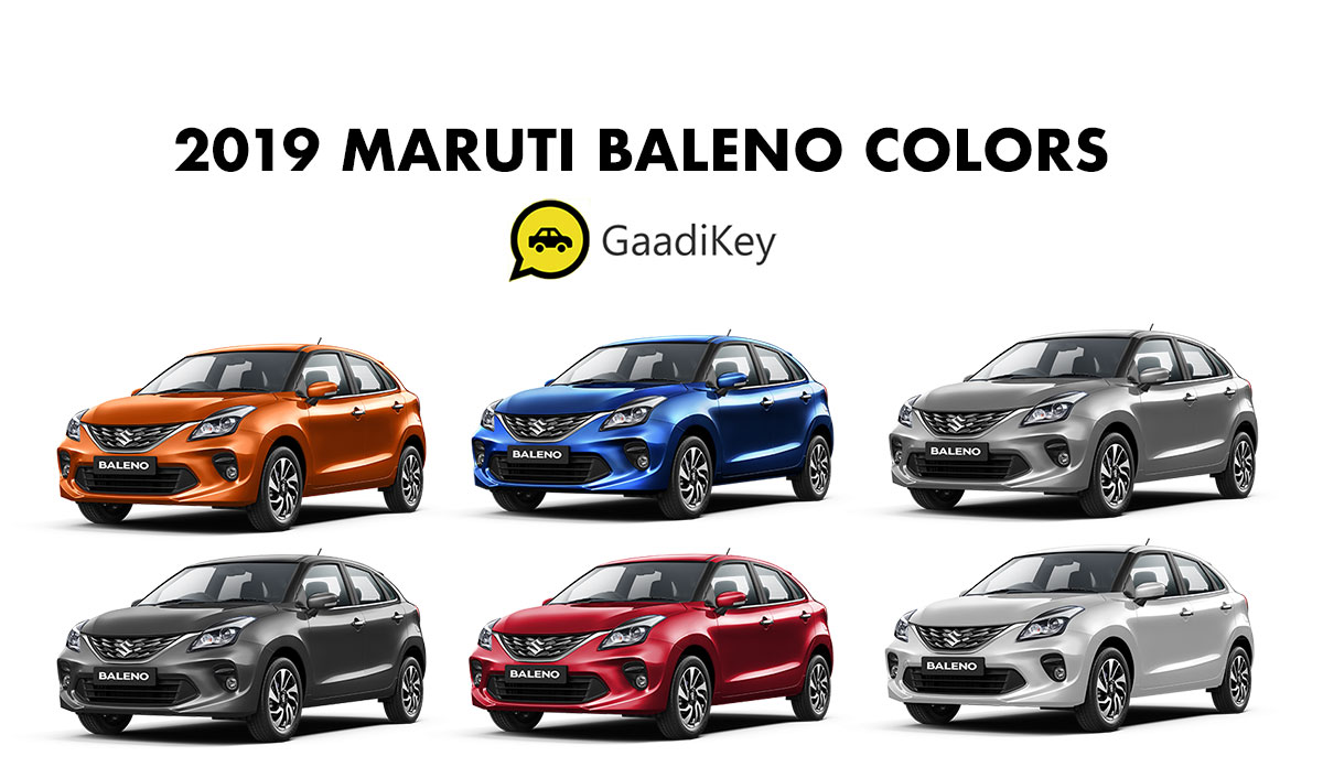 2019 Maruti Baleno Colors - New Baleno Colors 2019 Model All Maruti Baleno Colors List
