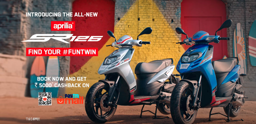 Aprilia SR 125 Fun Twin Campaign Launched
