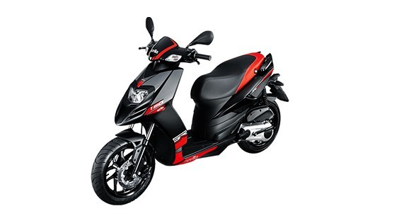 2018 Aprilia SR 150 Black with Red Color (Matte Black with Red)