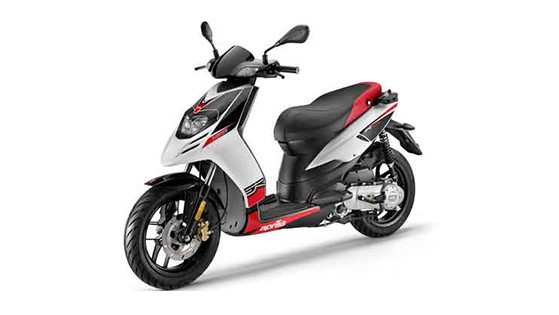 2018 Aprilia SR 150 Black with White Color (Matte Black with Glossy White)